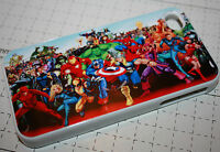 Marvel Characters Spiderman Hulk Avengers Apple iphone flip case 4 4s 5 5s 6 6+