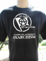 Anarchist No Gods No Masters T-Shirt Anarchism Anarchy