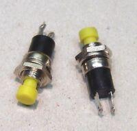 2x Miniatur Drucktaster 1-polig (Schließer) gelb  NEU