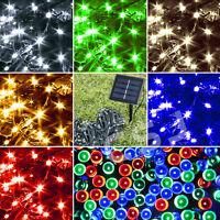 7M/12M/20M LED Solar Powered Fairy String Lights Garden Outdoor Christmas Trees