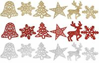 Christmas Tree Decorations Pack of 5 Hanging Snowflakes Tree Star Bell Reindeer
