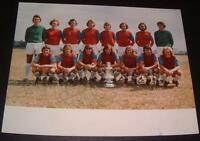 WEST HAM UNITED FC 1975 FA CUP SQUAD OFFICIAL CLUB PHOTO ?? BROOKING BONDS DAY