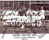 LEEDS UNITED FC 1969 SIGNED (PRINTED) x 18 BILLY BREMNER DON REVIE JACK CHARLTON