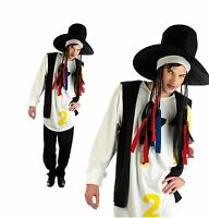 Adult Mens Boy George 80s 1980s Pop Star Fancy Dress Costume Halloween Outfit