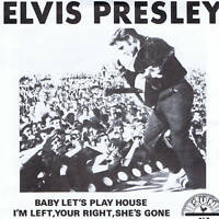 ELVIS PRESLEY - BABY LET'S PLAY HOUSE - NEW SUN LABEL REPRO IN PICTURE COVER