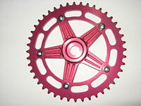 NOS Shimano DX red anodized alloy chainwheel Vintage Old School BMX kuwahara gt