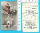 Gesù col gregge e Calice con Ostia - candela 1943 HOLY CARD