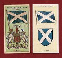 The SALTIRE SCOTLAND National Flag  St Andrew's Cross 1905 & 1938 original cards