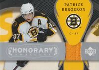 2007-08 TRILOGY - PATRICE BERGERON HONORARY SWATCHES #HS-PB