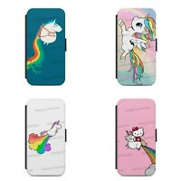 UNICORN RAINBOW  FLIP / WALLET Phone Case Cover iPhone / Samsung All models