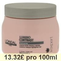 L'Oréal Lumino Contrast Shine Mask, Intensive Care for Streaked Hair, 500 ml Tub
