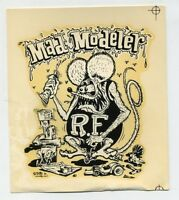 Vtg Ed Roth Decal RAT FINK Mad Modeler Hot Rod Kustom Kulture Drag Race Biker