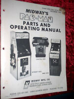 Midway Pacman Parts & Operating Manual
