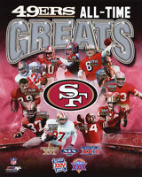 SAN FRANCISCO 49ERS All-Time Greats Glossy 8x10 Photo Rice Montana Young Poster