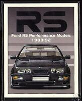 FORD RS PERFORMANCE MODELS 1983-92 Collectors Card Set - Escort Fiesta Sierra