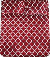 Bed Sheet Set (4 Pieces) Grey Blue 1 Flat Sheet 1 Fitted Sheet 2 Pillow Cases