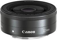 Best Offer Available * MINT * Canon EF-M 22mm F2 STM EOS Black 5985B002 F/S