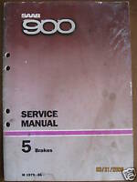 1979-1986- Saab 900 Brakes Service Manual