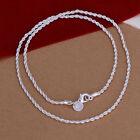 925 Plata esterlina 2MM collar clásico de la cadena al por mayor precio a granel
