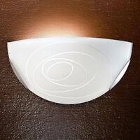 MIA Wand Leuchte Ø300mm/ Weiß/ Glas/ Lampe Halbrund Wandlampe Wandleuchte