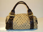 """BEAUTIFUL BE&D STUDDED CANVAS & LEATHER HANDBAG """"GARBO"""""""
