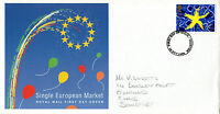 13 OCTOBER 1992 SINGLE EUROPEAN MARKET ROYAL MAIL FIRST DAY COVER TAUNTON FDI