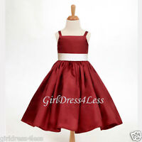APPLE RED SPAGHETTI STRAPS JUNIOR FLOWER GIRL HOLIDAY DRESS 12-18M 2 4 6 8 10 12