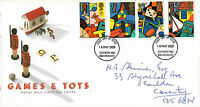 16 MAY 1989 TOYS AND GAMES ROYAL MAIL FIRST DAY COVER COVENTRY FDI