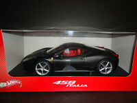 Hot Wheels Ferrari 458 Italia 2011 Matt Black 1/18 Tuesday Special