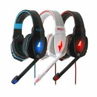EACH G4000/G9000 Gaming Stereo Headphones USB 3.5mm LED with Mic for PC Laptop