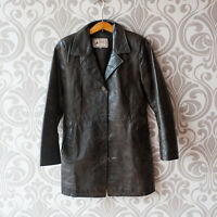 Genuine leather made in Italy brown women jacket
