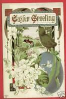 P SANDER EASTER GREETINGS BIRD EGG 1914  POSTCARD
