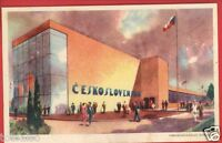 CZECHOSLOVAKIAN BUILDING 1933 CHICAGO CENTURY OF PROGRESS POSTCARD