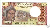 DJIBOUTI 1991 1000 FRANCS UNC P.37e