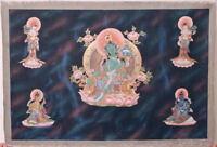 RARE Green Tara Hand Painting Thangka! Tibet Buddhist