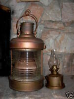 Antique Nautical Maritime Boat Ship Oil Lantern Lamp