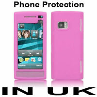 New Silicone Skin Case Cover Pouch For Nokia X6 Pink UK