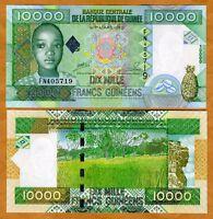 Guinea, 10000 (10,000) Francs, 2008, Pick 42, UNC   child