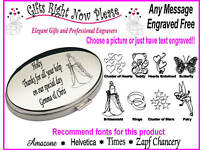 Engraved Oval Mirror Bridesmaid / Flower Girl Gift