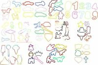 72 Rubber Bands BANDZ Silly Shapes Bracelets ZANY Assorted Fun Hobby Silicone