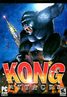 KONG ATTACKS - King Kong PC CD-ROM Game - Brand New