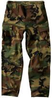New Mens Army Style BDU Combat Cargo Pants Trousers WOODLAND CAMO -