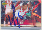 TYRONN LUE ATLANTA HAWKS SIGNED CARD LAKERS ROCKETS CLEVELAND CAVALIERS MAGIC