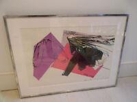 Andy Warhol Halston print IV. SIGNED. VERY RARE!