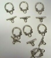 8 Sets Tibetan Silver Exotic Toggles Clasps - A6600