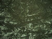 Green Wrinkle Velvet Pattern Durable Upholstery Fabric - Sold by the Yard