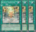 3 X YU-GI-OH: RITUAL FOREGONE - CDIP-EN039