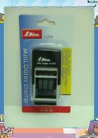 Shiny self inking mini dater stamp black/blue/red S-300