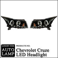 LED Head Lamp Assembly Angel Eye type 08 11 Chevy Cruze