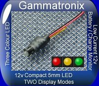 Gammatronix 5mm LED 12v Battery level / Alternator Charge monitor indicator- K